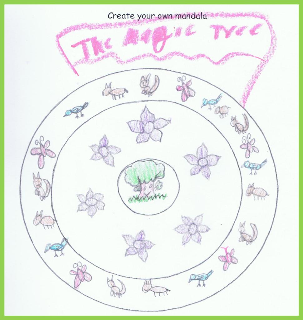 Mandala by an 11 year old girl.